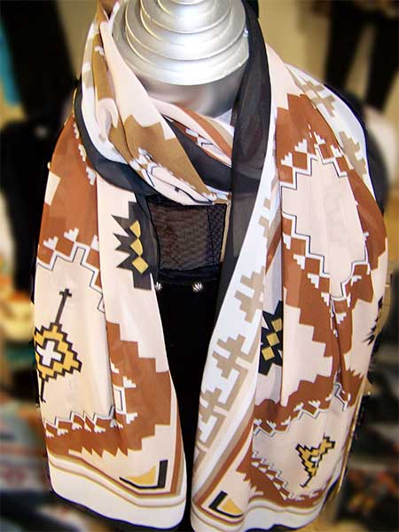 Neck Scarf - Two Grey Hills Brown